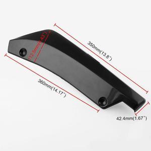 Image 5 - Vodool 2個ユニバーサル車のリアバンパーリップスポイラーカナードラップ角アンチスクラッチプロテクターディフューザーabs車外装部品