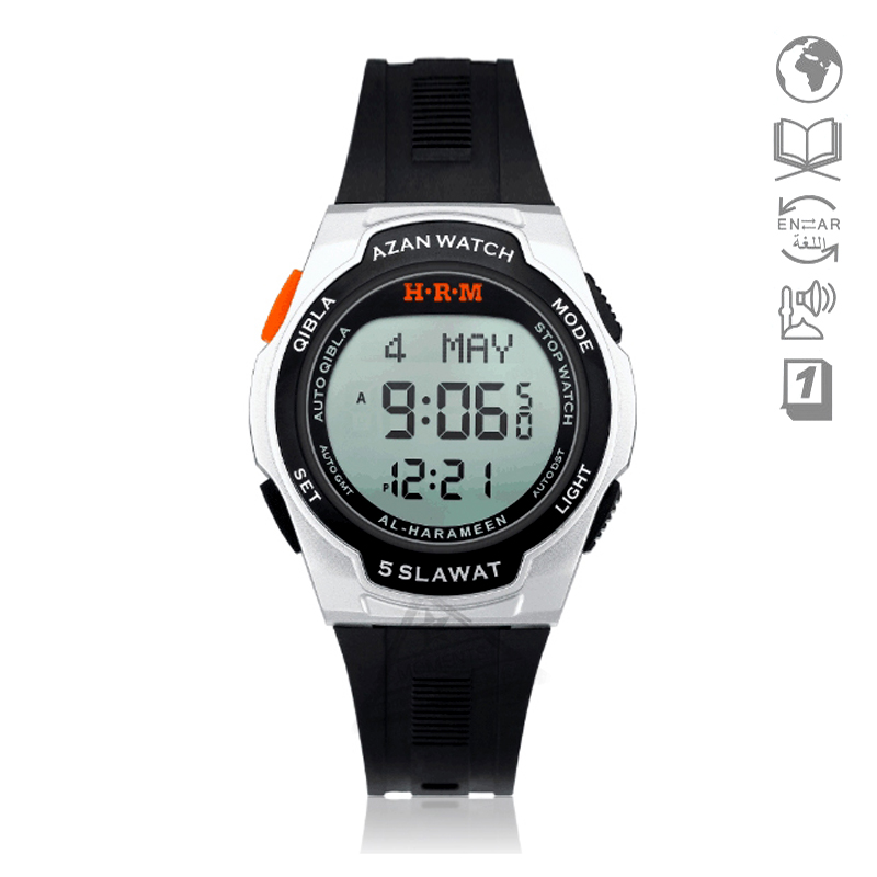 Watches Digital Watches Honey New Harameen Muslim Sport Watch With Qiblah Athan 6509 Waterproof Alfajr Azan Watch Islam Sporting Wristwatch With Smart Adhan 100% Original