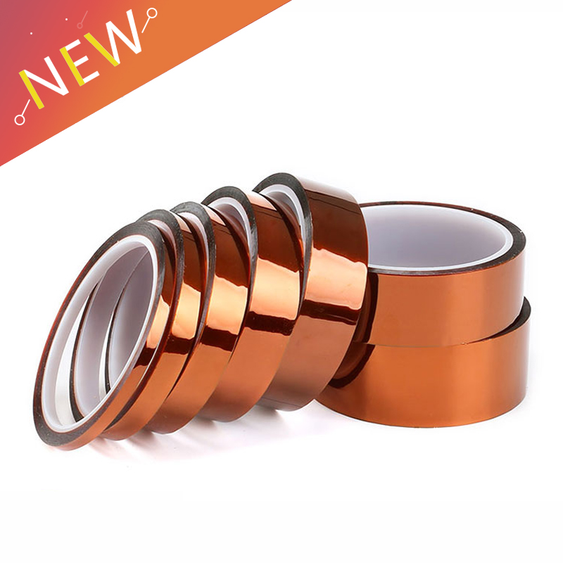 1pc-width-10-12-15-18-20-25-30-35mm-length-33m-heat-resistant-polyimide-tape-high-temperature-adhesive-insulation-kapton-tape