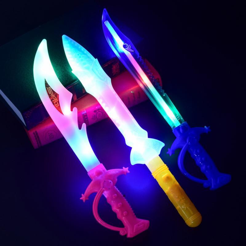 Funny Halloween Children Toy Light Colorful Eletronic Simulation Sword Cutlass Lightsaber Christmas Halloween Toys Gift #16
