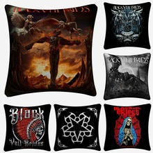Black Veil Brides Fashion Design Decorative Pillow Case For Sofa 45x45cm Linen Cushion Cover Home Decor Pillow Covers Almofada black veil brides black veil brides black veil brides