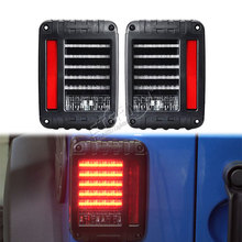цена на free ship pair offroad led tail light for Wrangler TJ JK 07-15 rear reverse brake lamp running reverse brake multi function lamp
