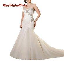BacklakeGirls Women's Mermaid Wedding Dresses Sleeveless