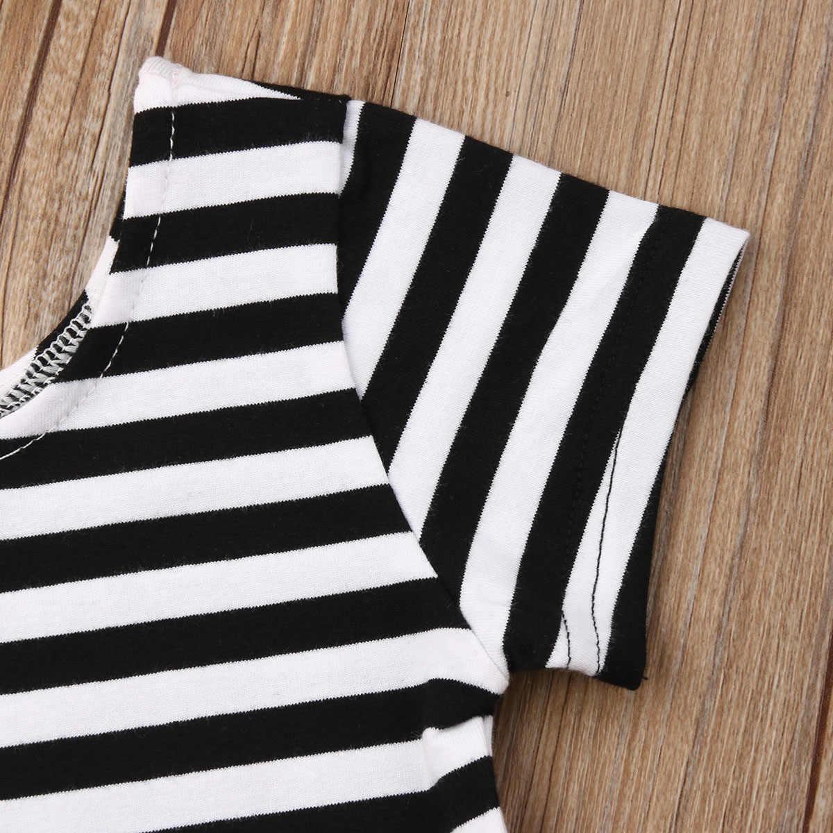 2019 Marka Yeni Bebek Bebek Kız Kıyafetler Setleri Kısa Kollu çizgili tişört Tops + Ilmek Kanat Geniş Bacak Pantolon Yaz BOHO giysi
