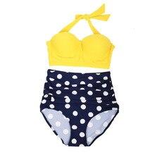 2019 New Women Striped Bikini Set High Waist Women Swimwear Push Up Padded Swimsuits Bathing Suit Beach Outwear