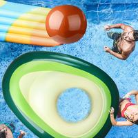 Summer Inflatable Avocado Pool Float Summer Beach Swimming Float Ball Beach Lounge Sleeping Bed for Water Sports Party