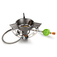 BRS 11 Stainless Steel Outdoor Stove Gas Burner Camping Cooker with Foldable Stand for Samping Hiking