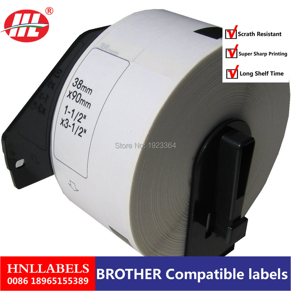100X Rolls Brother DK-11208 White Standard Large Address Label 38mm X 90mm 400 Labels/roll With 1 Frame Thermal Paper Labels