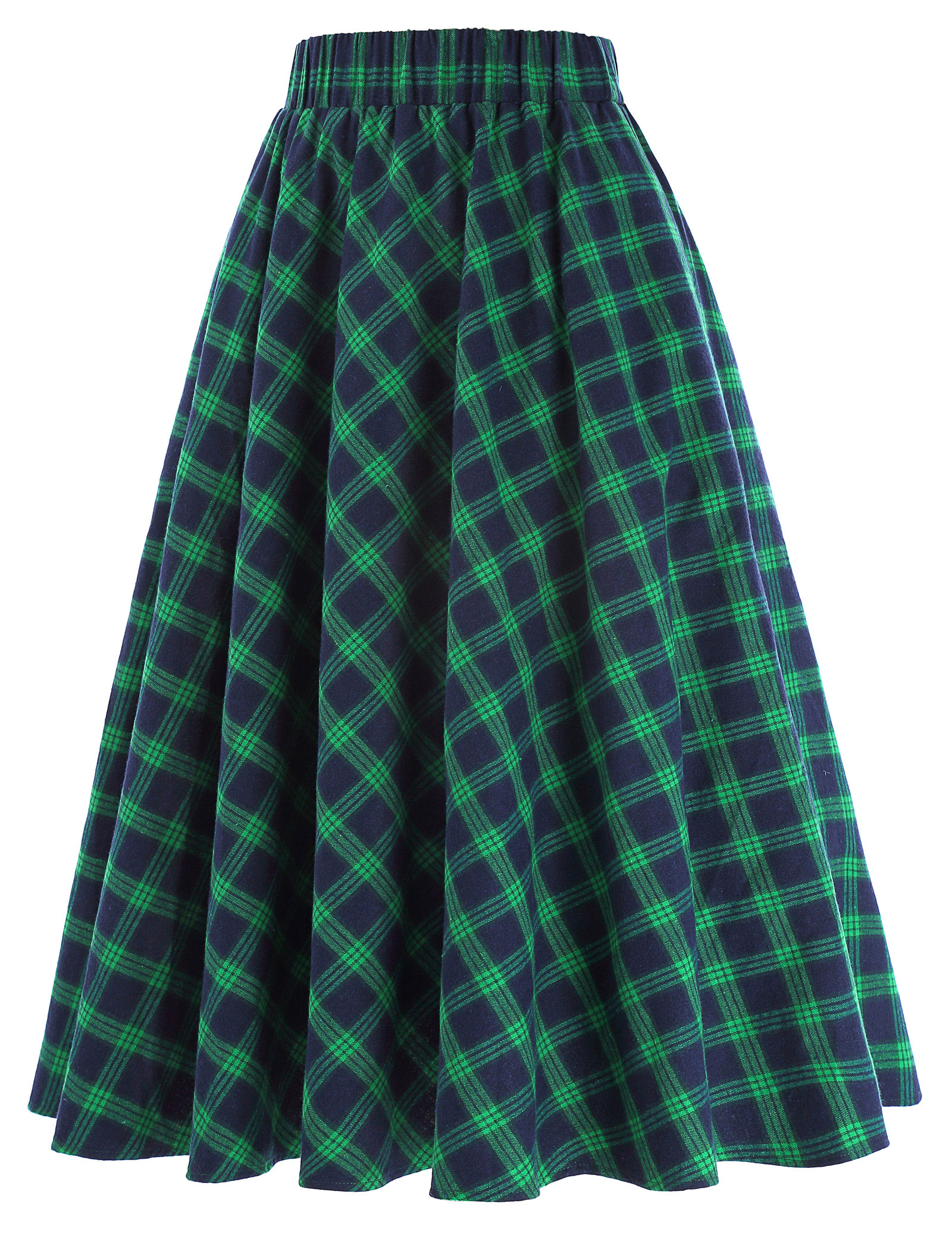 33003d4e8 Cuadros Faldas las mujeres, falda Vintage de moda patrón de cuadrícula de  estilo británico Skater plisado falda Faldas de cintura alta otoño falda