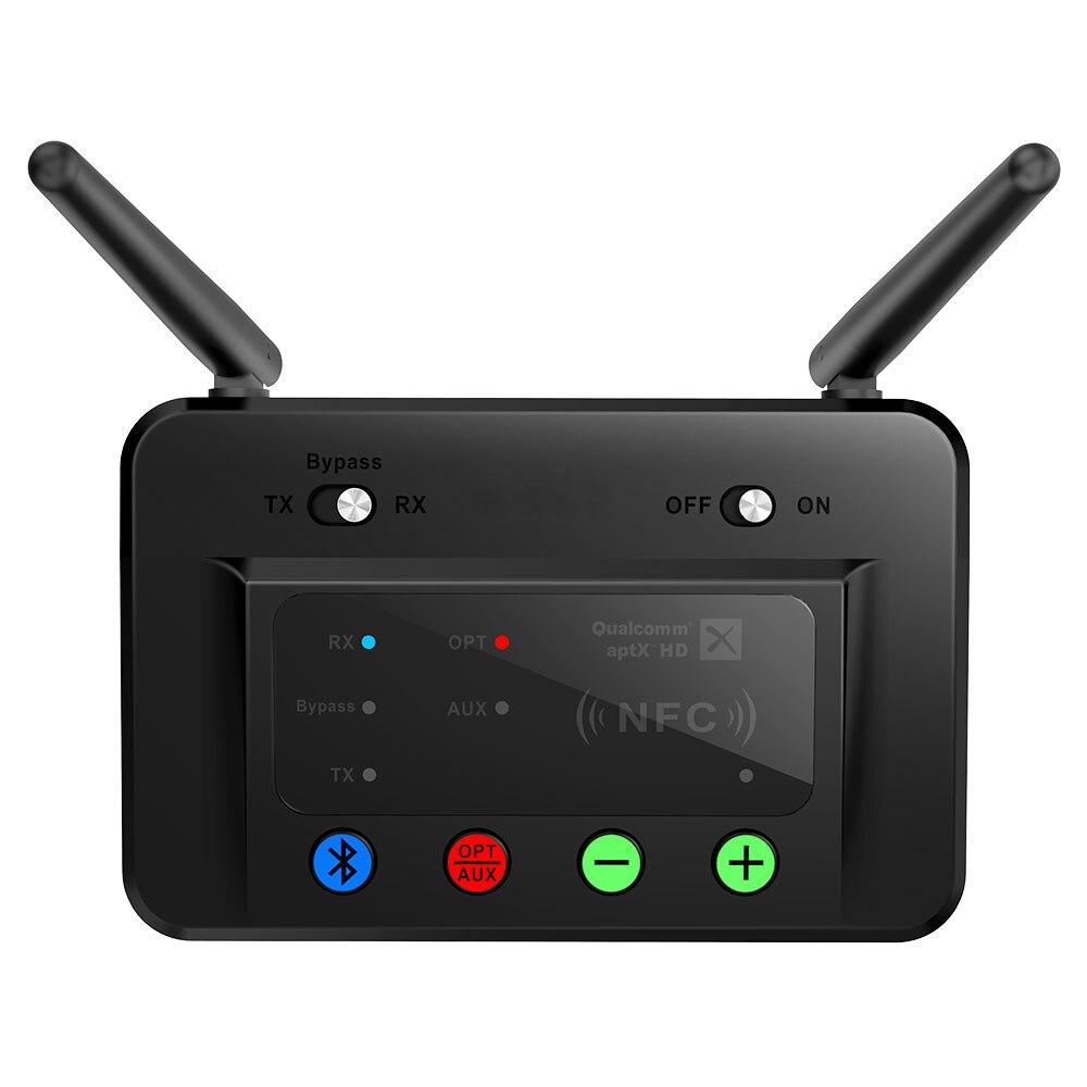 Bluetooth sans fil 5.0 émetteur récepteur adaptateur audio Longue Portée 80 m Faible Latence Aptx HD Optique RCA NFC AUX 3.5mm Pour TV b3
