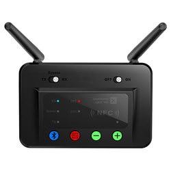 Senza fili di Bluetooth 5.0 Trasmettitore Ricevitore Audio Adattatore A Lungo Raggio 80 m Bassa Latenza Aptx HD Ottico RCA NFC AUX 3.5mm Per La TV B3