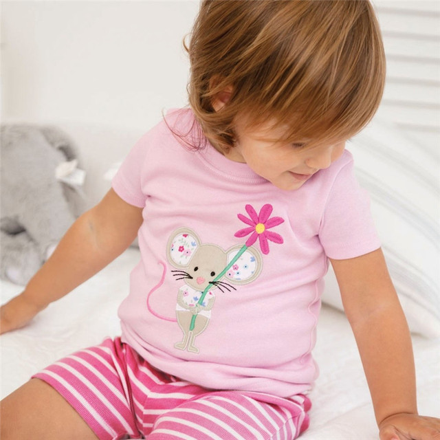 Jumping Meters Summer T-Shirt For Girls