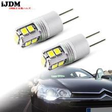 IJDM-luz led drl blanca de alta potencia, 6000K, sin error, hp24w, G4, 12v, accesorios para luces diurnas, para peugeot 3008, 5008, citroen C5