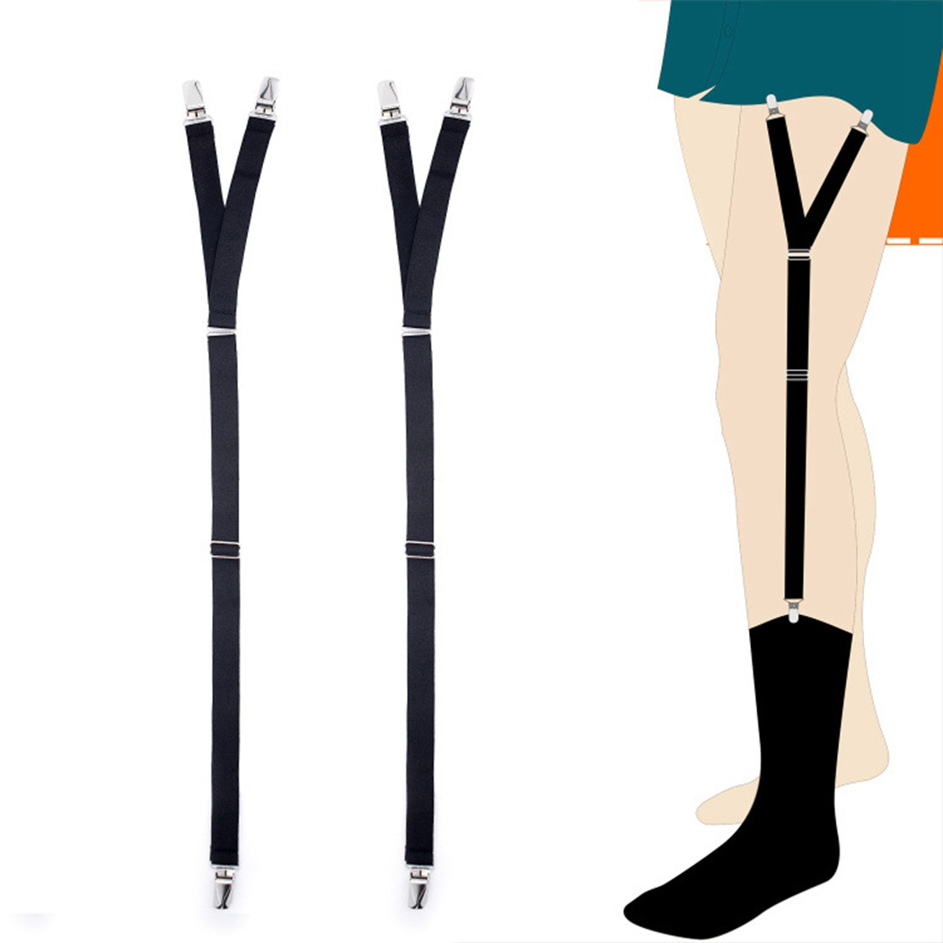 Adjustable Suspenders Elastic Y-Shape Shirt Stays Garters Non-Slip Shirt Holders Sock Fastener Garters For Men Braces Tirantes