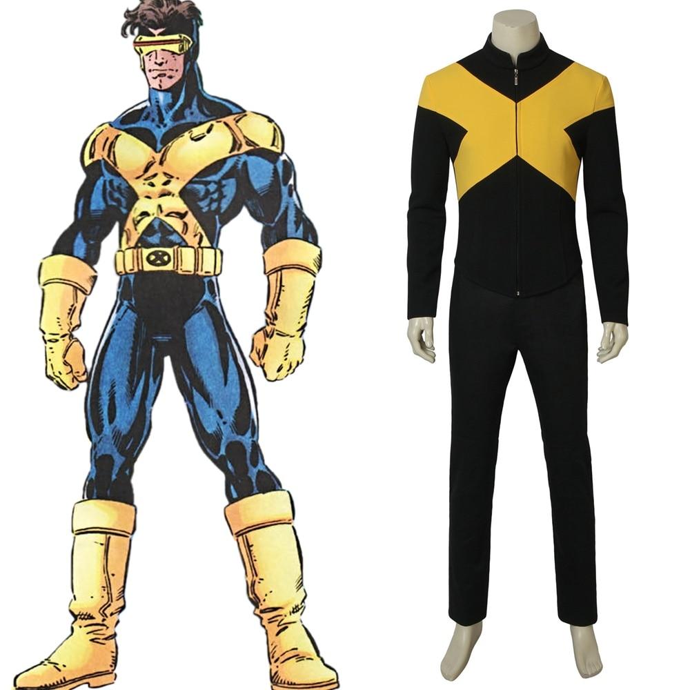 Movie X-Men Dark Phoenix Cyclops Cosplay Costume Halloween Outfit