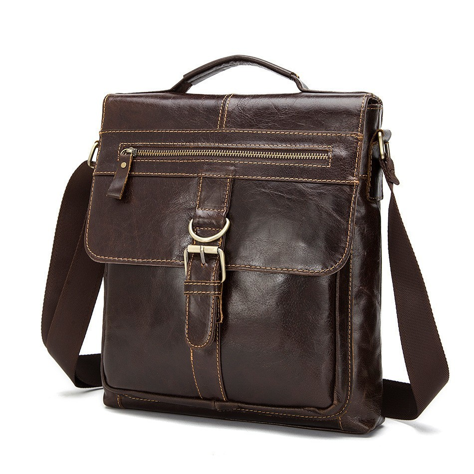 Genuine leather Men's Briefcase Tote men messenger bag travel laptop bag for men document business Leather male briefcase