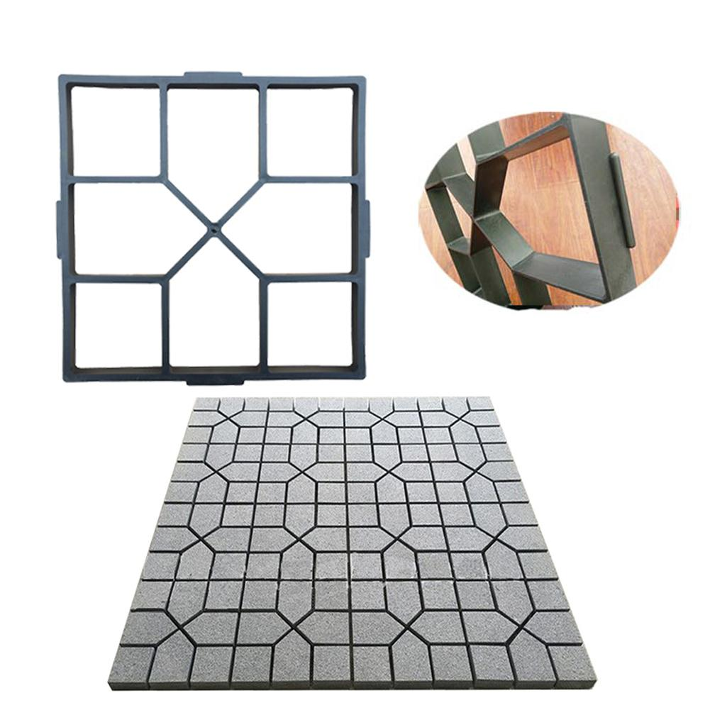 DIY Plastic Path Maker Mold Paving Cement Brick The Stone Road Concrete Moulds Tool For Garden Home Yard