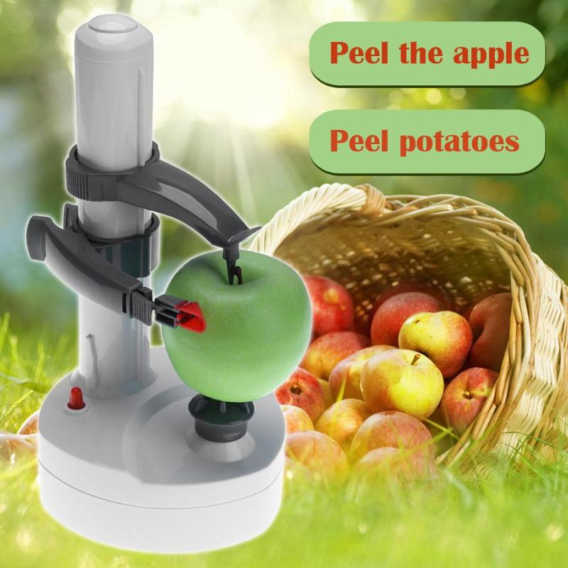Automatic Stainless Steel Electric Potato Peeler Multifunctional Vegetables Fruit Apple Rotate Peeler Kitchen Peeling Machine