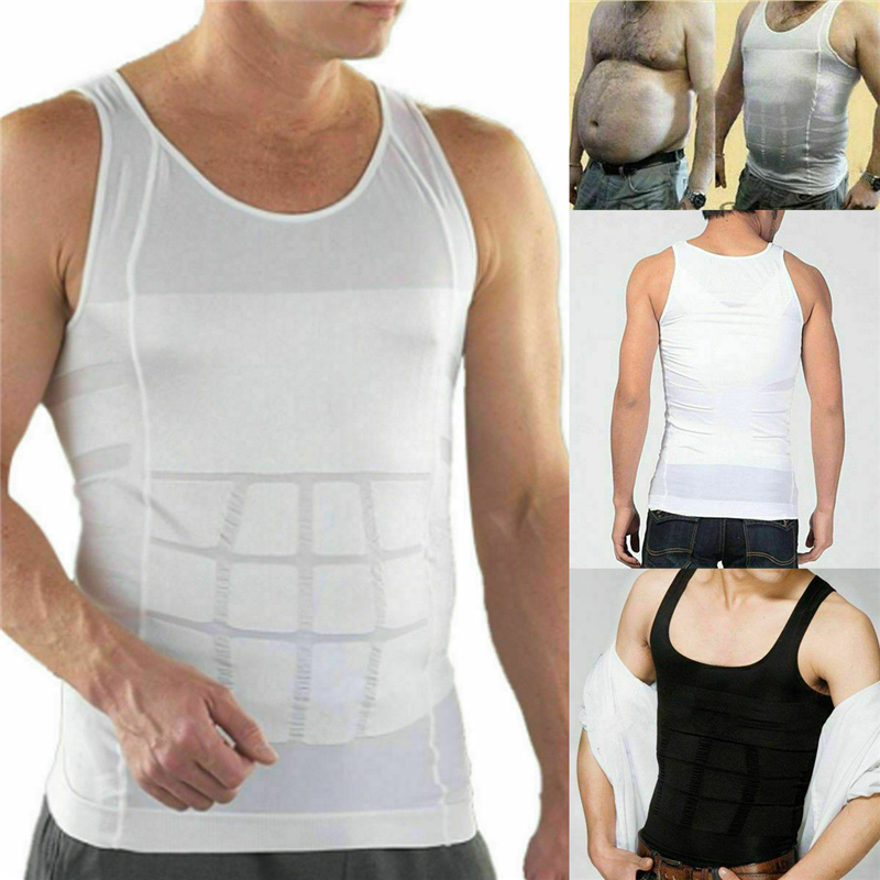 Men's Compression Shaping Sports Vest to Enhance The Body Slimming Corset Man Solid Fitness Gym Workout   Tanks