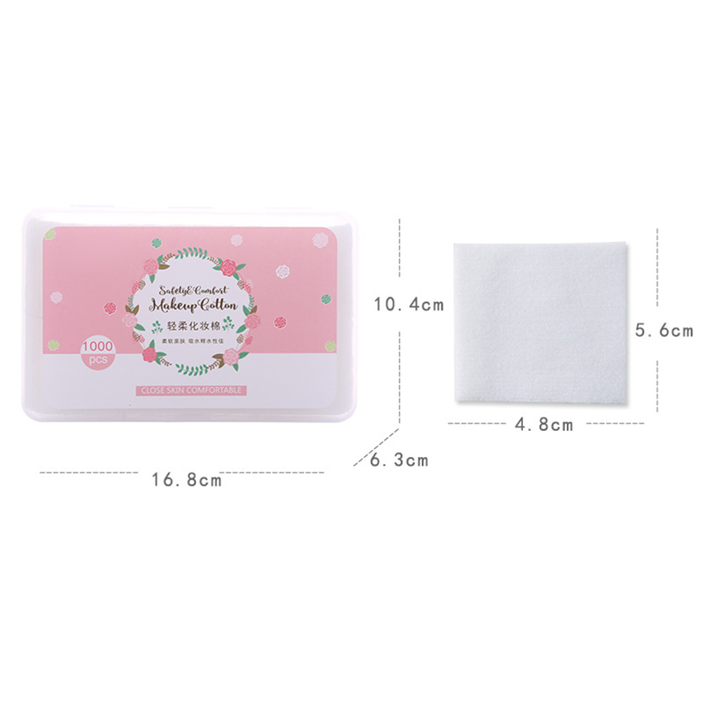 1000 Pieces Disposable Non Woven Cotton Pad Facial Cleaning Wipe Pads Makeup Remover Paper With Laundry Box in Toiletry Kits from Beauty Health