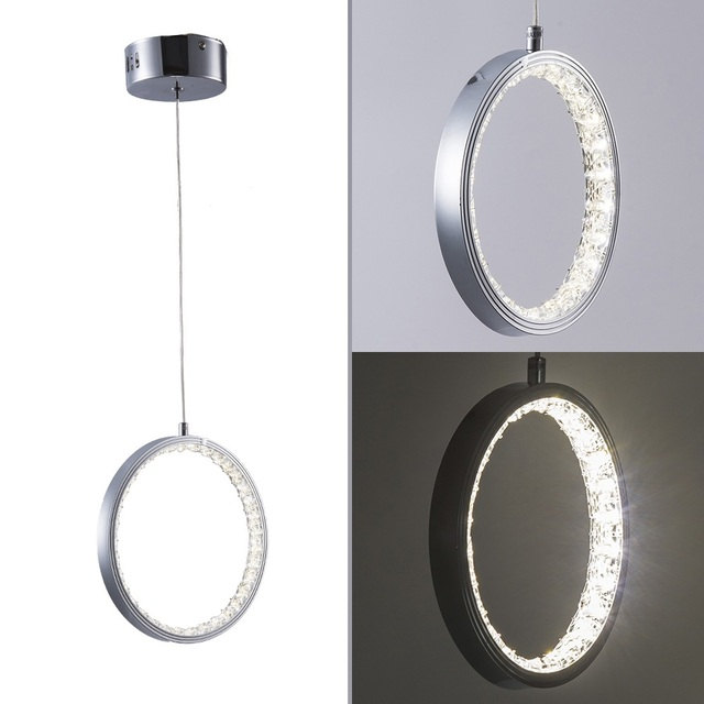 Crystal Rings LED Ceiling light Fixture For Indoor Lamp lamparas de techo Surface Mounting Ceiling Lamp For Bedroom Dining Room