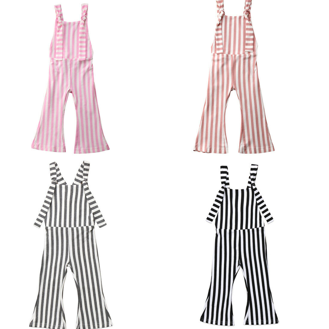US Kids Baby Girl Off shoulder Summer Romper Jumpsuits Trousers Outfit Clothes