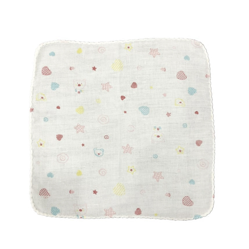1PC Durable Pratical Safe Comfortable Convenient Towel Family Supplies Face Towel Square Scarf Handkerchief Baby Bibs