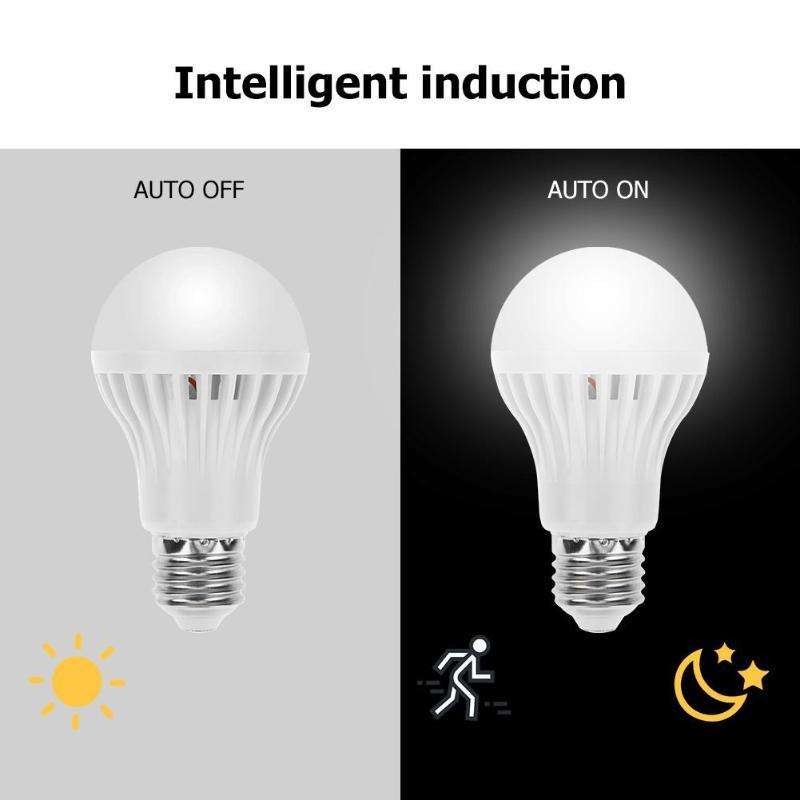 Lamp Bulb Wall-Light Pir-Motion-Sensor Energy-Saving 5W Home LED E27 For Kids Radar Voice-Control