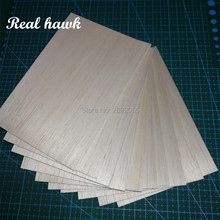 200x100x0.75/1/1.5/2/2.5/3/4/5mm AAA+ Model Balsa wood sheets for DIY RC model wooden plane boat material