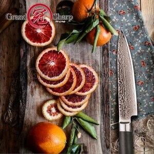 Image 3 - سكينة دمشق متعددة الأغراض 5 بوصة 67 طبقات اليابانية دمشق الفولاذ المقاوم للصدأ VG 10 سكاكين مطبخ دمشق