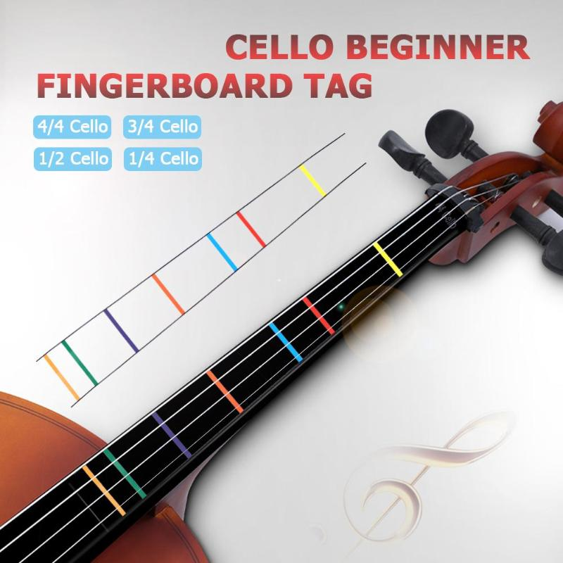 Cello Fret Fingerboard Sticker Guide Label Cello Viola Position Marker Decal For Student Beginner Fret Guide Practice Acces