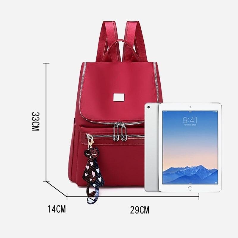 Image 5 - Women Anti Theft Backpack Waterproof Zipper School Bag Backpacks For Teenagers Girls Multifunction Student Backpack RucksackBackpacks   -