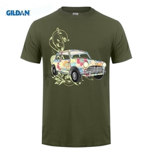 GILDAN austin mini printed tshirt mens Summer Style Cooper Austin Classic Car T Shirt Short Sleeve Tee