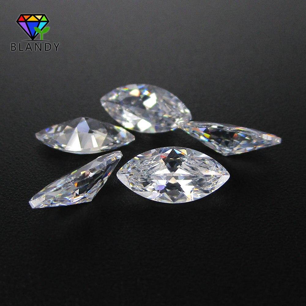 100 Marquise CZ Pedra 5A 1.5*3mm-10 pçs/lote * 20mm 2*4mm 2.5*5 milímetros 3*6m Gemas Sintéticas Branco Cubic Zirconia Pedra Para Jóias