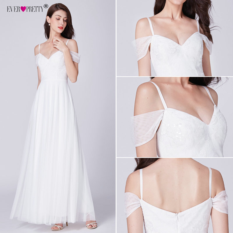 Simple Wedding Dress Ever Pretty Ep07519wh Elegant A Line