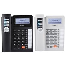 Большие кнопки Удлинительный набор проводной телефон с громкой связью и ЖК-дисплеем