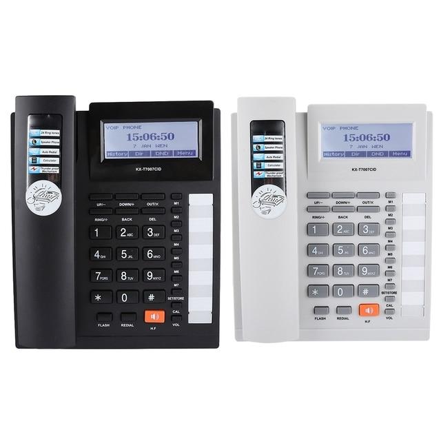 Duże przyciski zestaw przedłużający telefon przewodowy z zestaw głośnomówiący i wyświetlacz LCD