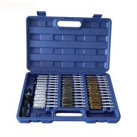 LanLan 38 Pcs/set Tube Brush Inner Wall Cleaning Brush Engine Wire Brush Cleaning Kit tool set