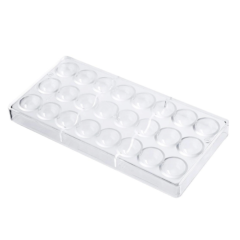 24 Holes Semi Sphere Chocolate Mould Polycarbonate Bar Mold Half Ball Candy Maker Bakeware