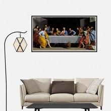 A última ceia cartaz impressão em tela arte da parede sala de estar decoração para casa