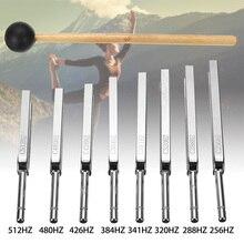 8 шт 256-512 Гц стальной набор вилок для настройки здоровья физика Вибрация медицинская диагностика+ молоток вибрационная терапия медицинские инструменты
