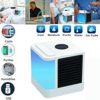 Mini Car Air Cooler Refrigeration Humidification Air Purification USB Fan Air Conditioning Air Cooler