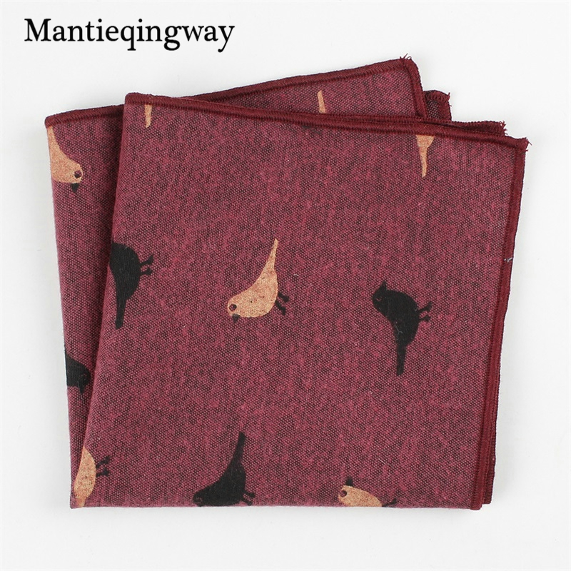 Mantieqingway Brand Cotton Hanky Pocket Squares Men Paisley Square Handkerchief Chest Towel Men Wedding Suits Square Pocket