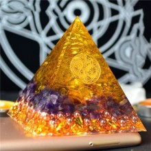 Aura Crystal Orgone Energy Converter Orgonite Pyramid Soothe The Soul Stone That Change The Magnetic Field Of Life Resin Jewelry