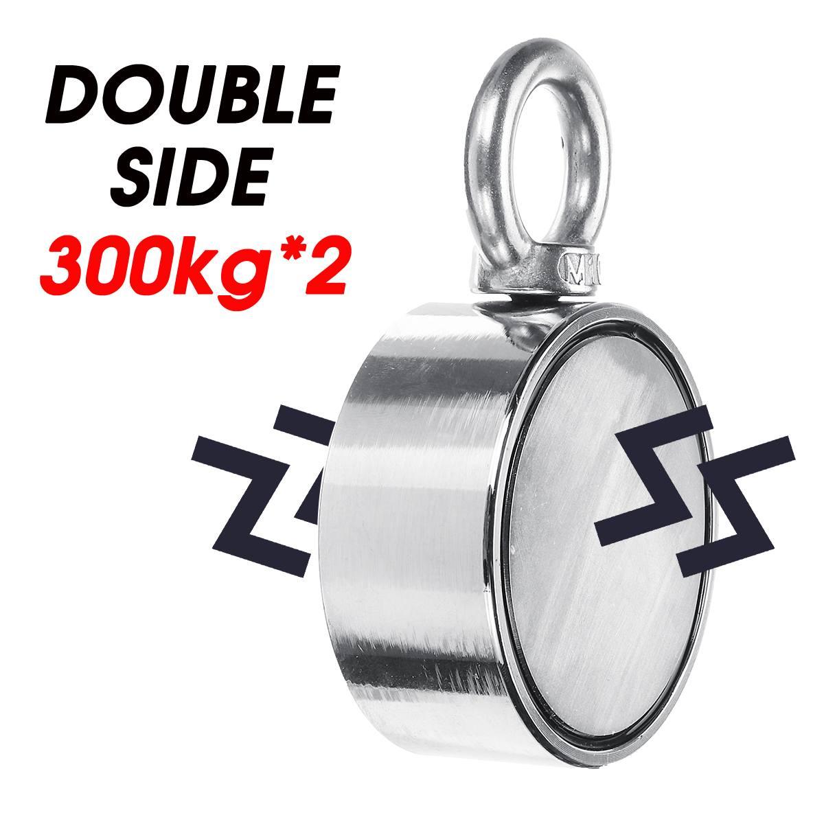 600 KG D94mm Double face néodyme aimant pêche métal chasse mer trésor recherche néodyme récupération puissant magnétique