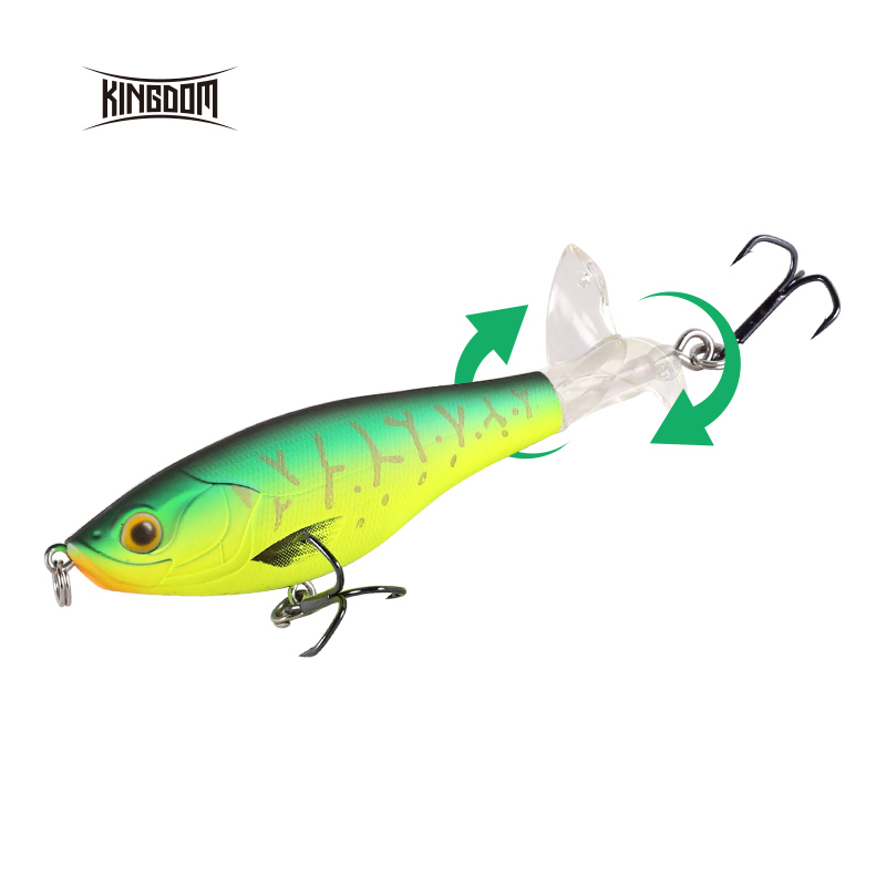 Kingdom KINGPOP Hot Whopper Fishing Lures 9cm 11cm Topwater Artificial Baits High Quality Popper Soft Rotating Tail Wobblers