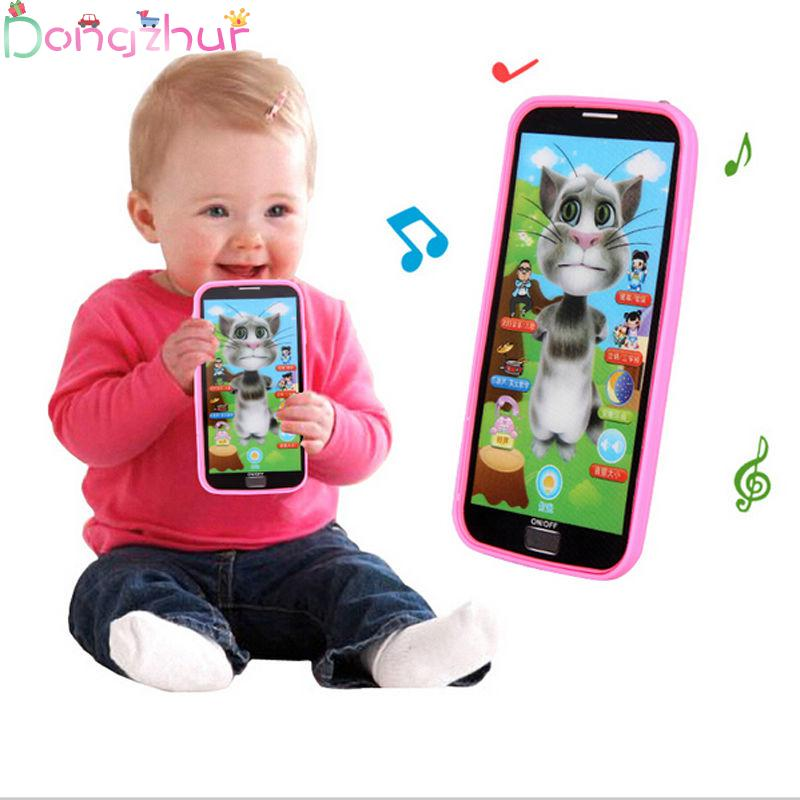 1pcs Kids Smart Screen Mobile Phone Toy Multi-fonction Simulation Puzzle Early Education Toy Phone  Lovely Kids Gift