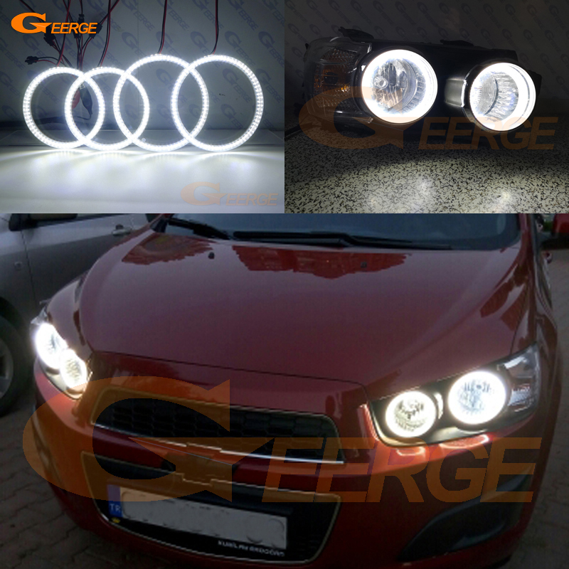 For Chevrolet AVEO Sonic T300 2011 2012 2013 2014 smd led Angel Eyes kit Excellent Ultra