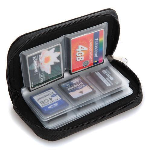 Potable 22 Cards SSD SDHC MMC CF Micro SD Memory Card Storage Carrying Pouch Case Holder Wallet Memory Card Bag Case