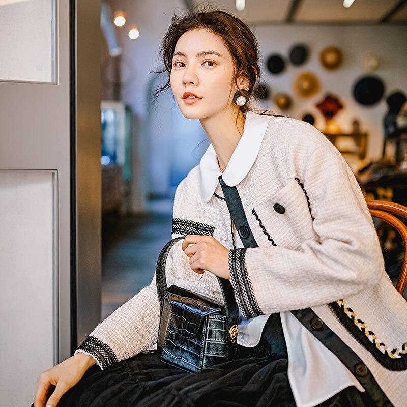 Manches E338 Apricot 2019 Manteau Pour Femelle Femmes De Tempérament Mode Nouvelle À Poitrine Double Printemps Poches Veste Unique Longues UwPgTUxq